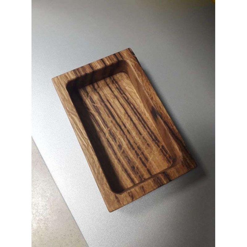 Дървена правоъгълна купичка