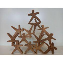 """Дървена игра """"Балансиращи човечета"""""""